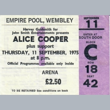 Alice Cooper Ticket