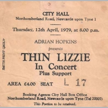 Thin Lizzy Ticket