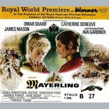 Mayerling Film Premiere Ticket