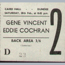 Concert Tickets 1960s A to M