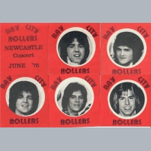 Bay City Rollers 1975 Concert Tickets