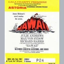 Julie Andrews Film Premiere Ticket