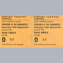 Siouxsie & The Banshees Tickets