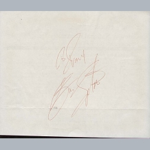 Golf Autograph Book Pages