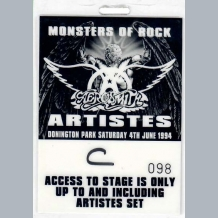 Aerosmith Stage Pass