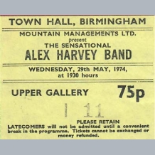 Alex Harvey Band Ticket