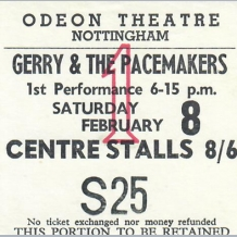 Gerry & The Pacemakers Ticket