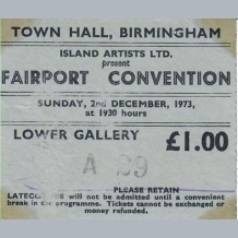Fairport Convention Ticket