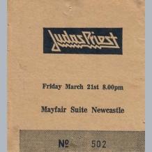 Judas Priest Ticket