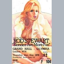 Rod Stewart Concert Memorabilia