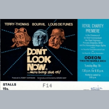 Don't Look Now Film Premiere Ticket