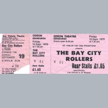Bay City Rollers 1976 Concert Tickets