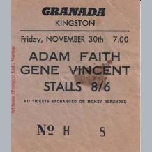 Gene Vincent Ticket