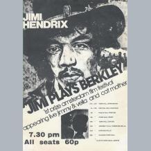 Jimi Hendrix Berkley Flyer