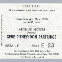 Gene Pitney Ticket