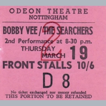 Bobby Vee Ticket