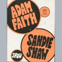 Adam Faith & Sandie Shaw Programme