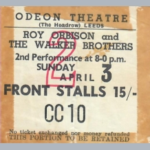 Roy Orbison Ticket