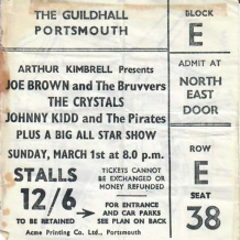 Johnny Kidd Ticket