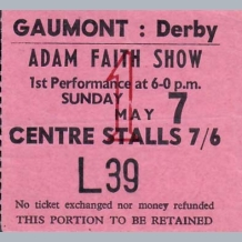 Adam Faith Ticket