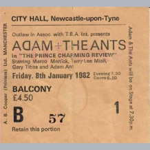 Adam Ant Ticket