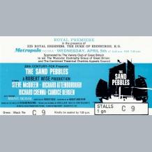 Steve McQueen Film Premiere Ticket