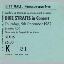 Dire Straits Ticket