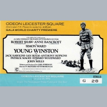 Young Winston Film Premiere Ticket