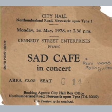 Sad Cafe Ticket