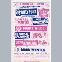 Billy Fury Booking Form