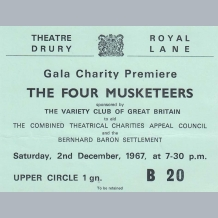The Four Musketeers Film Premiere Ticket