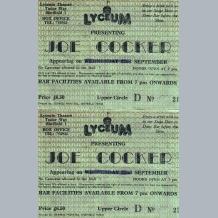 Joe Cocker Ticket