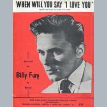 Billy Fury Sheet Music