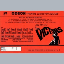 The Victors Film Premiere Ticket