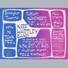 Keef Hartley Band Flyer