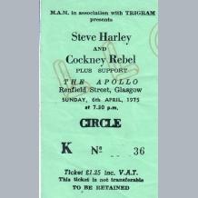 Steve Harley & Cockney Rebel Ticket