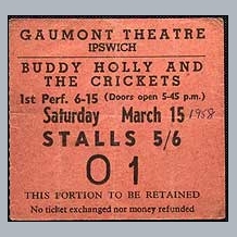 Concert Tickets 1960s N to Z