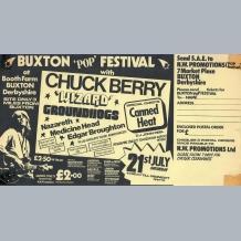 Buxton Pop Festival Flyer