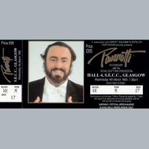 Pavarotti Ticket