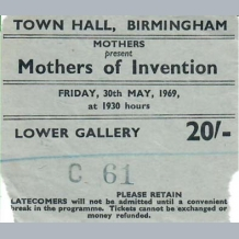 Mothers of Invention Ticket