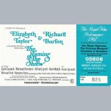 Richard Burton Film Premiere Ticket