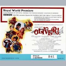 Oliver Film Premiere Ticket