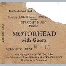 Motorhead Ticket