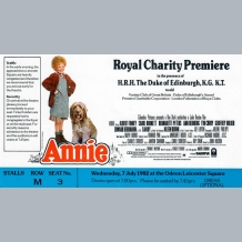 Annie Film Premiere Ticket