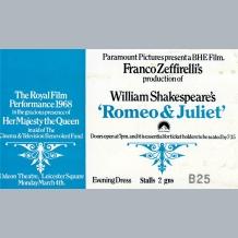 Romeo & Juliet Film Premiere Ticket
