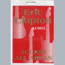 Eric Clapton Stage Pass