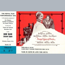 Mary Queen of Scots Film Premiere Ticket