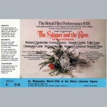 The Slipper and The Rose Film Premiere Ticket