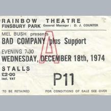 Bad Company Ticket