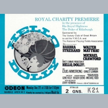 Hello Dolly Film Premiere Ticket